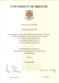 professional accreditation and certification bachelor of science psychology