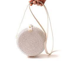 Round Rattan <b>Bag</b>,FOONEE Handwoven <b>Women Straw Shoulder</b> ...