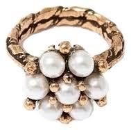 Купить <b>кольцо позолоченное</b> с перламутровым цветком <b>Maurizio</b> ...
