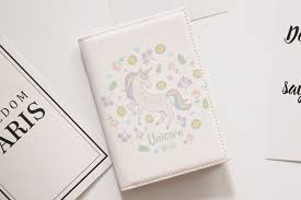 Lovely unicorn <b>travel abroad</b> waterproof passport <b>passport holder</b> ...