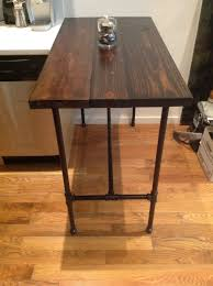 custom made reclaimed wood and black iron pipe table black iron pipe table