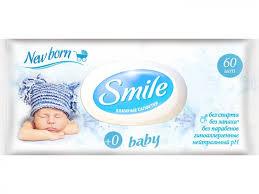 <b>Салфетки влажные Smile Baby</b> New Born с пластиковым ...