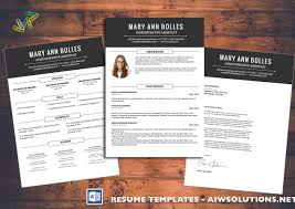 resume cv template cover letter for ms word creative resume resume cv template