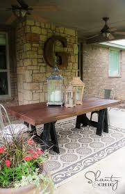 pottery barn style dining table: diy table pottery barn inspired middot diy outdoor dining table