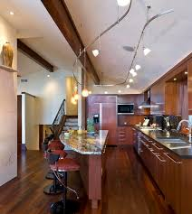 view in gallery innovative track lighting installation above the kitchen island cathedral ceiling track lighting