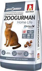 <b>Корм сухой Зоогурман Home</b> Life Курочка, для кошек, 350 г