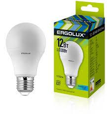 <b>Ergolux LED</b>-<b>A60</b>-<b>12W</b>-E27-4K (Эл.<b>лампа светодиодная</b> ЛОН ...