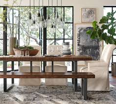 pottery barn style dining table: full size of tables amp chairs griffin fixed pottery barn kitchen dining table with bench