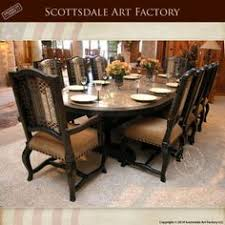 dining table that seats 10: custom dining table and chairs hand crafted designs from scottsdale art factory solid wood