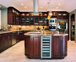 cherry cabinets fridge