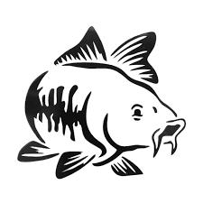 <b>1 Pcs Universal</b> Carp Fishing Car Vinyl Decal Art Sticker Kayak ...