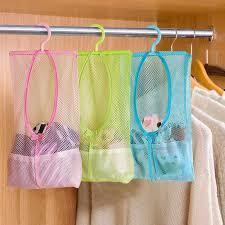 Multi function Space Saving <b>Hanging Mesh</b> Bags Clothes Organizer ...