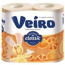 <b>Туалетная бумага Veiro Classic</b> Оранжевое небо двухслойная ...