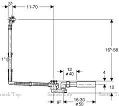 <b>Слив</b>-<b>Сифон Geberit 150.525.21.1</b> для ванны <b>удлиненный</b>, хром ...