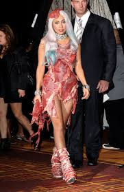 important this is what lady gaga s meat dress looks like five important this is what lady gaga s meat dress looks like five years later marieclaire