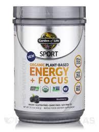 <b>Sport Organic Plant</b>-<b>Based Energy</b> + Focus   Informed Choice