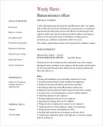 sample hr officer professional summary resume sample professional summary resume