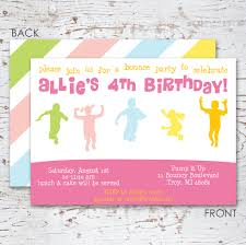 bounce house birthday party invitation for girls bounce house birthday party invitation for girls 128270zoom