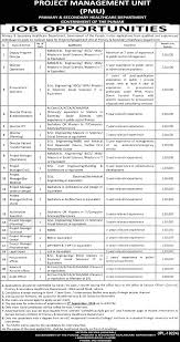 project management unit jobs doctor engineer mcom mba pmu govt project management unit jobs doctor engineer mcom mba pmu govt of