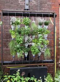 diy indoor vertical garden cans
