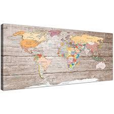 <b>World</b> Map <b>Wall Art</b>: Amazon.co.uk