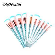 10pcs unicorn makeup brush set red flame foundation blending powder eye shadow make up brushes cosmetic beauty tools
