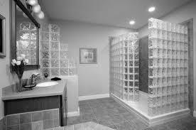 washstand bathroom pine: bathroom black ceramic floor glass shower white washbasin under wall mirror floating paper charming flooring light