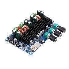 <b>2.1Channel</b> Amplifier Bluetooth USB TF 50W Input Stereo 100W ...
