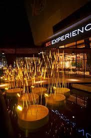 beautiful lighting installation that looks like glowing rice field royal rice field beautiful lighting