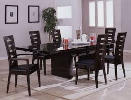 latest dining tables: fancy retro black dining table and chair latest home furniture