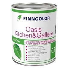 «<b>краска</b> в/<b>д FINNCOLOR Oasis</b> Kitchen&Gallery A моющаяся 9л ...