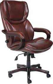 serta executive big tall office chair eco conscious bonded leather brown 43506 by office depot officemax big office chairs executive office chairs