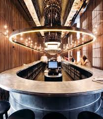 home bar lighting. the flagship bar is dominated by a single 30meter long counter around which home lighting