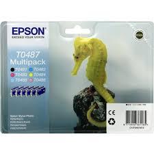 Комплект <b>картриджей Epson</b> T0481, T0482 (голубой), T0483 ...