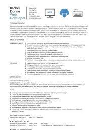 web developer resume 3 web design resume example