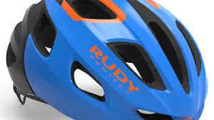 <b>2019 RUDY PROJECT</b> STRYM ROAD HELMET Blue/Orange Shiny ...