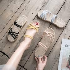 Women <b>Sandals</b> Casual Flat <b>Sandals</b> Women <b>Solid Color Summer</b> ...