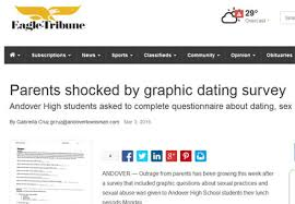 Graphic    dating    survey given to high school students in Andover     MassResistance The outrage even reached the local newspaper