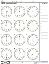 Time WorksheetsReading An Analog Clock worksheet ...