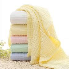 <b>100</b>% <b>Cotton 6 Layers</b> Solid Color Baby Bath Towel Muslin Towels ...