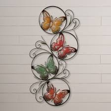 metal wall decor shop hobby: august grove ila metal butterfly wall daccor uamp reviews wayfair