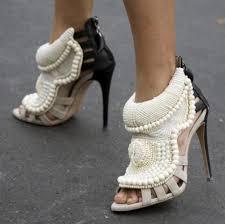 <b>Stylesowner Summer</b> Sexy Peep Toe Handmade Pearl Beads High ...