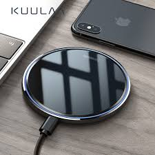 <b>KUULAA</b> 10W <b>Qi Wireless Charger</b> Mirror Wireless Charging Pad for ...