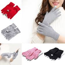 <b>1 Pair Man Women</b> Winter Thermal Touch Screen Knitted Strong ...