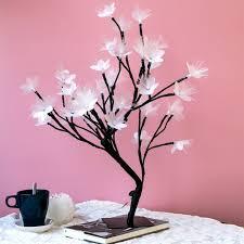 <b>LED tree branch</b> night light fiber optic flower <b>tree lamp room</b> mirror ...