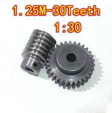 D:41.25MM 1.25M-30T Speed ratio:1:30 45# steel <b>Worm</b> gear+wore ...