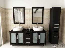 bathroom place vanity contemporary: quot lune double vessel sink vanity espresso