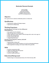 bartender resume no experience resume template bartender resume no experience