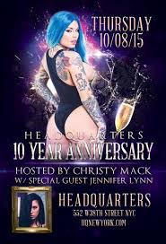 EMMNETWORK 2 NSFW Some Content May be too Intense for Some Viewers Headquarters Celebrates 10th Anniversary Bash Thursday October 8