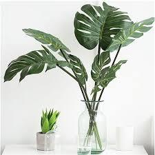 Dried & <b>Artificial Flowers</b> 12PCS Home <b>Artificial</b> Tropical <b>Palm</b> ...
